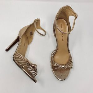 Who What Wear Truth Metallic Gold Heels 6.5M
